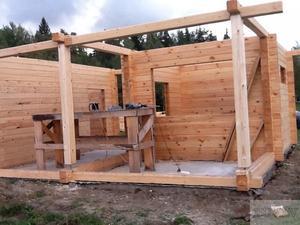 Как построить баню своими руками из бруса 150х150